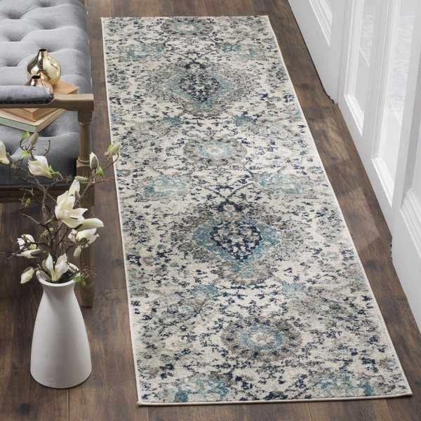 Safavieh Madison Paisley Boho Glam Cream/ Light Grey Runner Rug - 2'3' x 12'