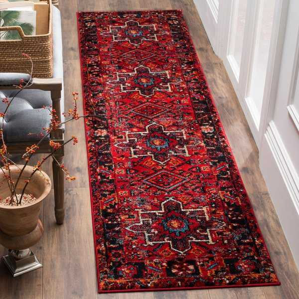 Safavieh Vintage Hamadan Traditional Red/ Multi Runner Rug - 2'3' x 8'