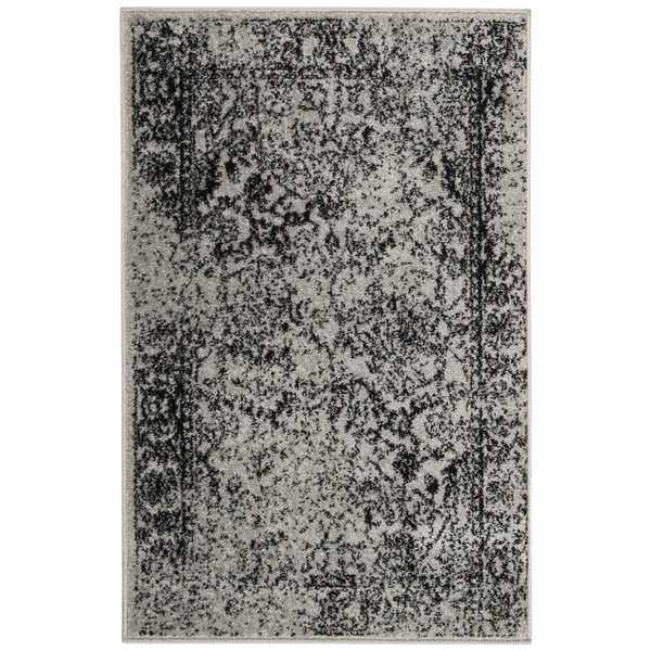 Safavieh Adirondack Vintage Distressed Grey / Black Rug - 2'6' x 4'