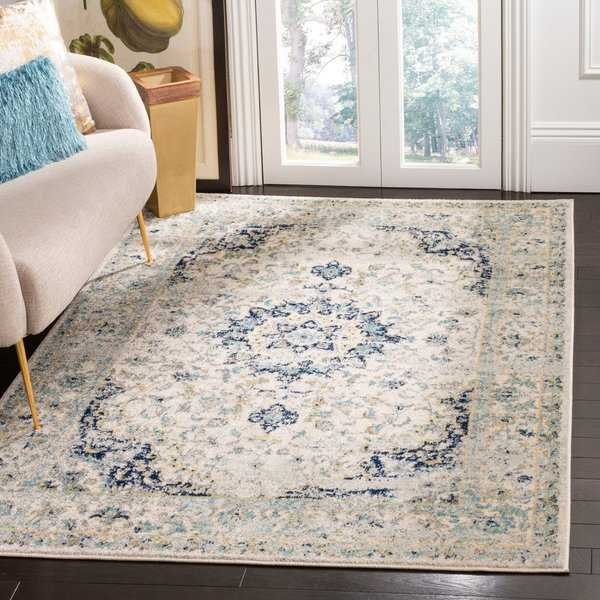 Safavieh Madison Vintage Ivory / Blue Rug - 9' x 12'