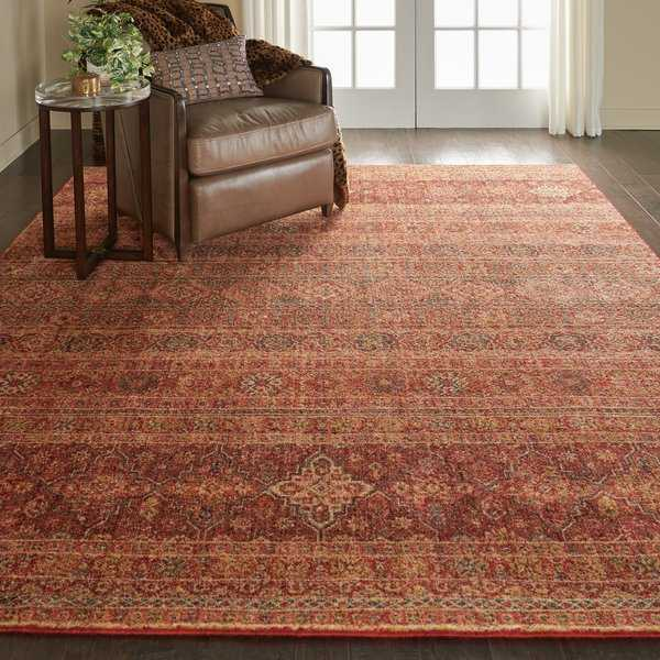 Nourison Vintage Tradition Brick Area Rug - 7'10' x 9'10'